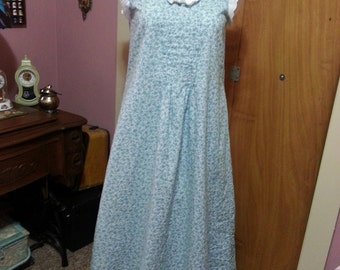 Handmade to order Victorian/Cottage Chic/Vintage Style floor length nightgowns cottons.
