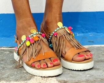 "Sandals ""Ginger"" (handmade to order)"