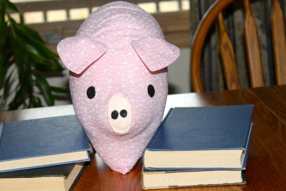 Pig pink pig pillow nursery decor home decor kids by for Pig decorations for home