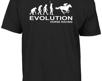 Evolution horse racing t-shirt