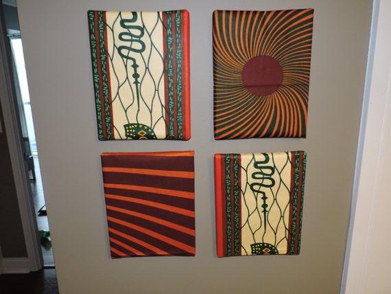 Bon Items Similar To African Print Home Wall Decor Ankara Canvas On Etsy