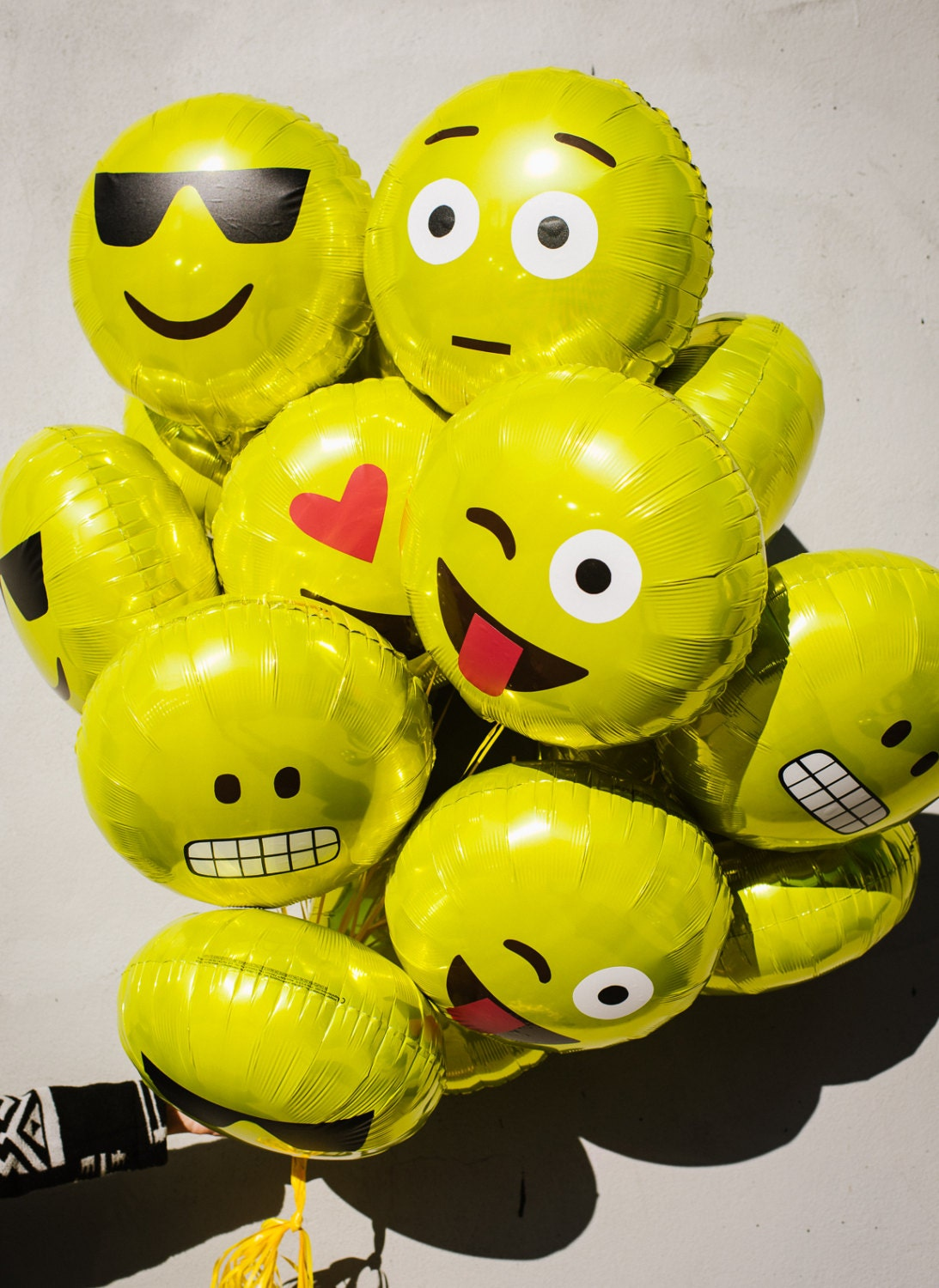 Emoji Yellow Mylar Balloons 18 Inch Set Of Six