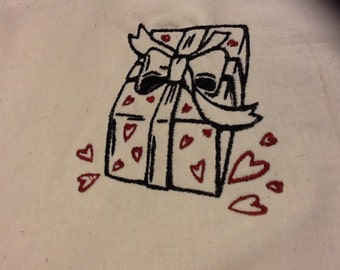 Gift of Love 4 x 4  machine embroidery design