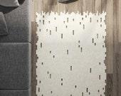 Area Rug / Carpet / Modern rug / Minimalist / Wool Felt Rug / Made to order