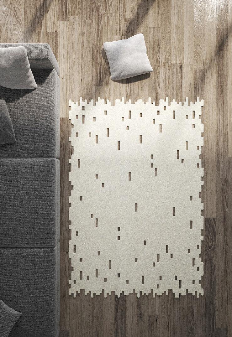 rea ug / arpet / Modern rug / Minimalist / Wool by Woollylouds - ^