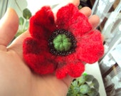 Red Poppy Pin Brooch Felted Wool Red Flower Jewelry Outdoors Gift\for\coworker  Traditional Ukrainian Jewelry Remembrance Day Gift for Mom