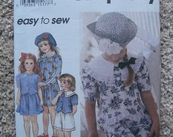 UNCUT Girls Top, Shorts and Hat - Simplicity Sewing Pattern 8906