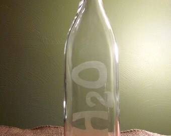 Etched Water Bottle, 32 ounces, serving bottle