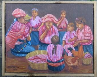 "Iván-Gabriel ""Venta de Pollos Sololá"" Painting"