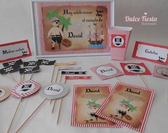 Printable party pirates-pirate printable Kit