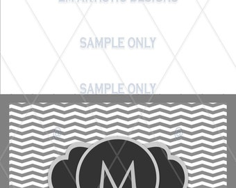 SET OF 12 Chevron Chalk Board Labeled Half Fold Blank Cards} Your choice of color} Your choice of style}  Envelopes included