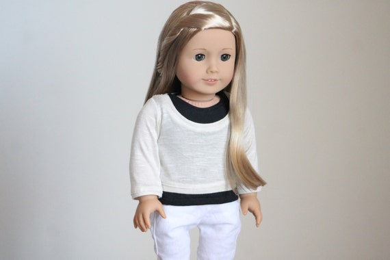 Oatmeal  Pullover Sweater for American Girl Dolls