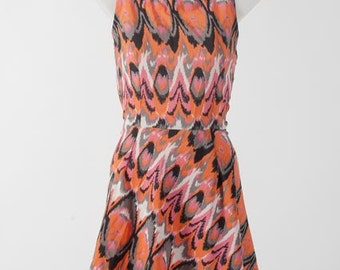 Jungle print dress - Crossback A-line