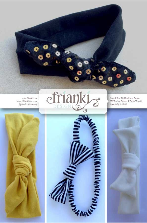 Knot Amp Bow Tie Headband Pdf Sewing Pattern And Photo