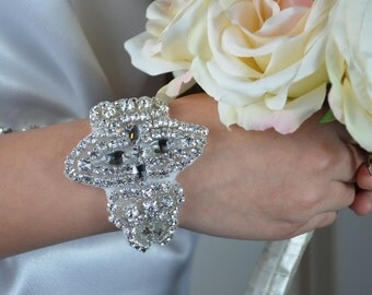 Bridal Bracelet - Wedding Bridal Crystal Bracelet, Rhinestone Bracelet, Bridal Accessories.