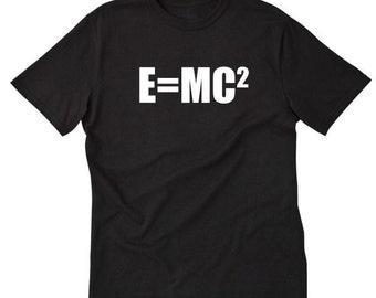 E=MC2 T-shirt Geek Nerd Scientist Science Physics Einstein Tee Shirt