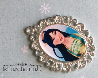 Disney Princess Mulan Pendant - Mulan Pendant - Disney Princess Mulan Necklace - Mulan Jewelry