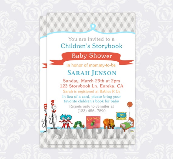 items similar to storybook baby shower invitation book baby shower
