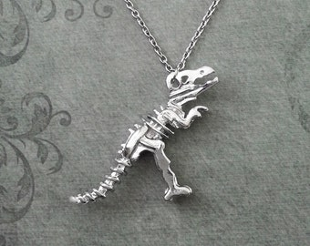 Dinosaur Necklace LARGE Dinosaur Jewelry T-Rex Necklace T-Rex Jewelry Dinosaur Bones Necklace Statement Necklace Dinosaur Fossil Necklace
