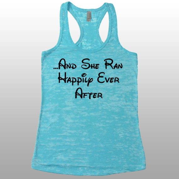 And she ran happily ever after womens disney running by for Disney happily ever after shirt