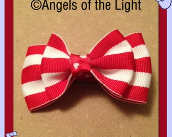 AotL | •M4- Red & White Double Layer Bow•