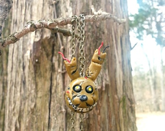 At freddy s inspired springtrap pendant necklace bonnie freddy fazbear