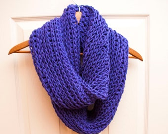 Triple Luxe Cowl | Violet | Handmade | Crochet | Infinity Cowl | Cowl | Scarf