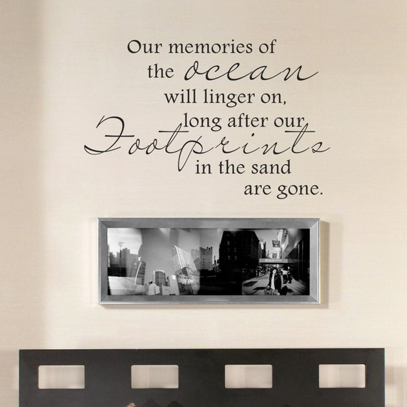 Ocean Wall Decal Beach Wall Quote Our Memories Of The - Wall decals beach quotes