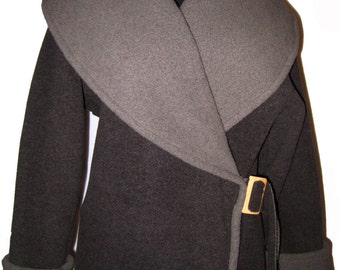 Fleece Wrap Jacket Granite