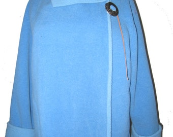Fleece Concho Jacket Blue