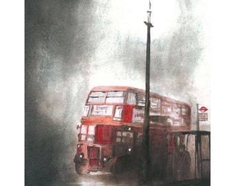 London Bus Fine Art Print
