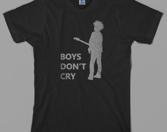 Boys Don't Cry T Shirt -the cure, robert smith, 80s, rock, goth, - Graphic Tee, All Sizes & Colors