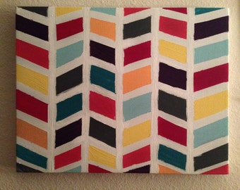 Multicolored Herringbone Canvas