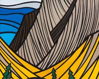 Gallatin Peak 8x12 giclee print