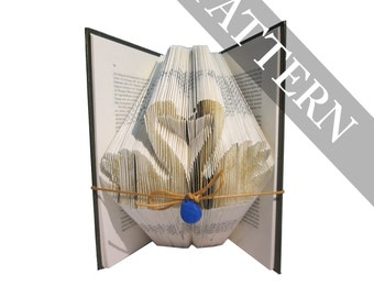 Swans in love Pattern for DIY bookfolding