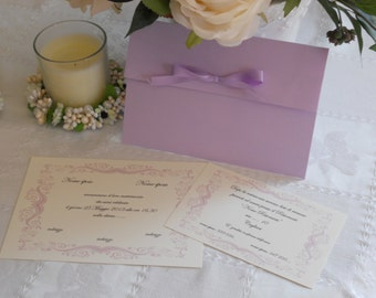 Handmade lilac wedding, participation