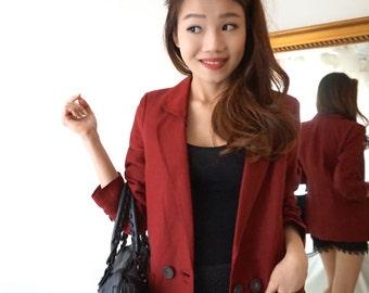 Trench-coat blazer