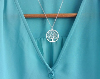 Gold Tree  Necklace, Gold Plated Necklace, Tree Pendant, Petite Necklace, Nature Necklace, Bridesmaid gift, Wedding Present, Tree of life