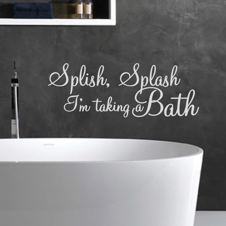 splish splash i 39 m taking a bath wall decal bathroom. Black Bedroom Furniture Sets. Home Design Ideas