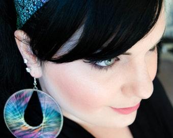 Damask Rainbow-Rainbow Gradient Damask Print Non-Slip Headband Hair Accessory, No slip Headband, Hair Accessories, Accessories, Swanky Bands