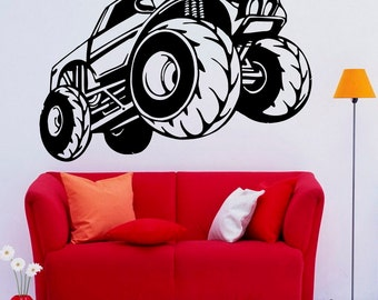 monster truck decals etsy. Black Bedroom Furniture Sets. Home Design Ideas