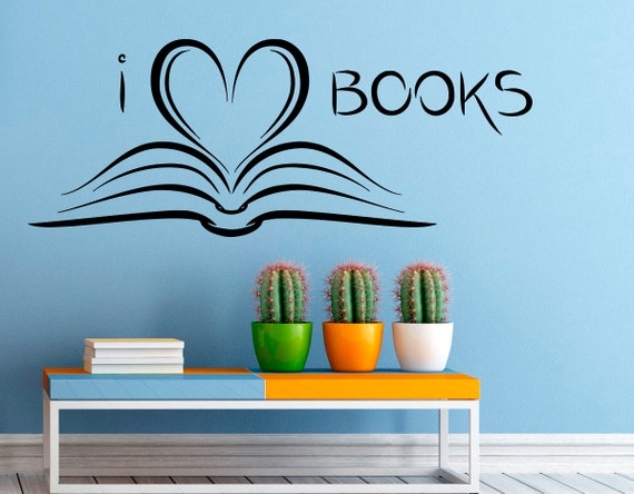 Wall Vinyl Decal Books Stickers Reading Room Library Interior