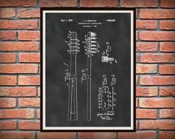 Patent 1953 Toothbrush - Art Print - Bathroom Art - Lavatory - Wash Room Toiletry- Poster Print - Wall Art - Dentist Office Art