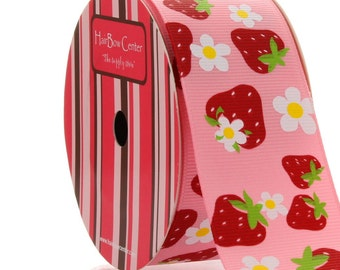 "1.5"" Strawberry Grosgrain Ribbon - 5yds"