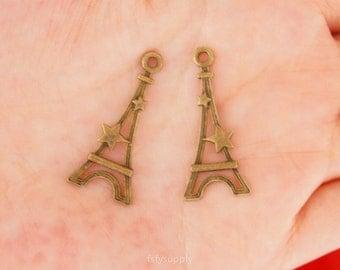 20pcs 30*13mm Antique Bronze Eiffel Tower Charms