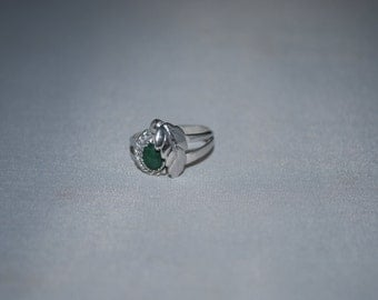 Sterling silver Jade ring size 4.5