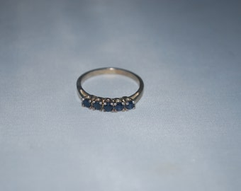 Sterling silver Sapphire ring size 8.75