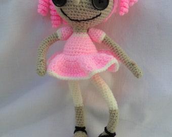 Lalalopsy crochet doll amigurumi toy baby doll pink