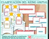 PDF con tarjetas y fichas para trabajar la Clasificación del Reino Animal -español-