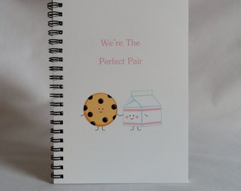 Cookie & Milk Perfect Pair Journal, Notebook, Best Friend Journal, Love Journal